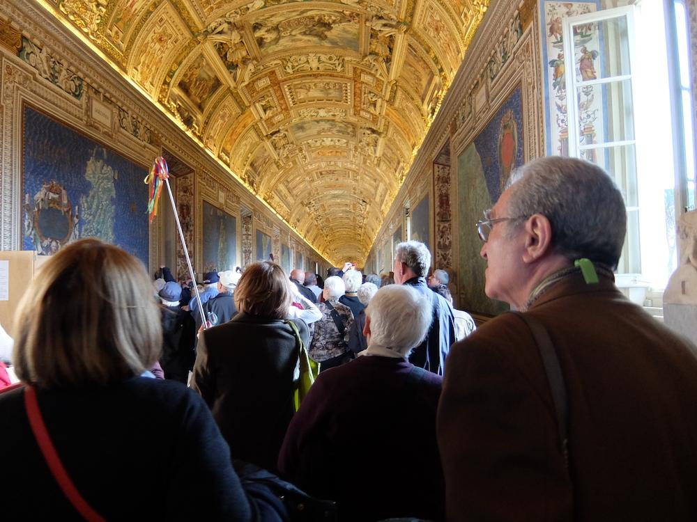all'interno dei Mesei Vaticani