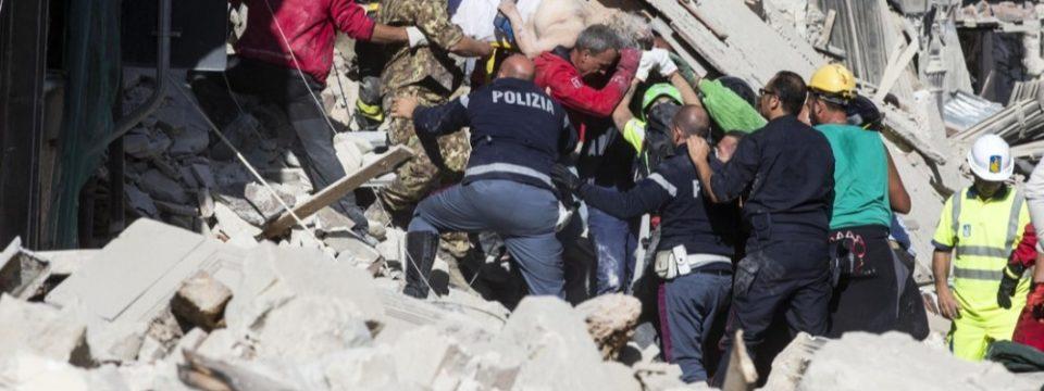 Terremoto Marche e Lazio Fondi ANPS