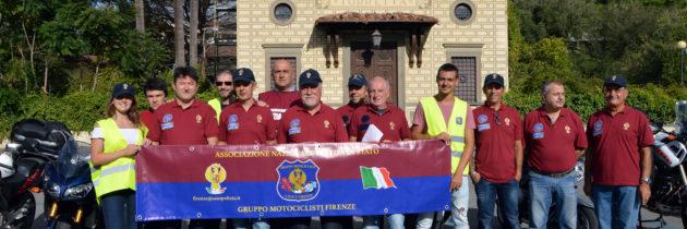 Il Gruppo Motociclisti fiorentino  presente al raduno di Montecatini